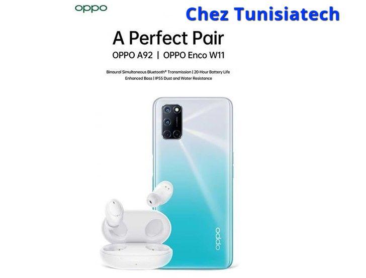 Oppo A92 Tunisie et Enco W11 prix Tunisie