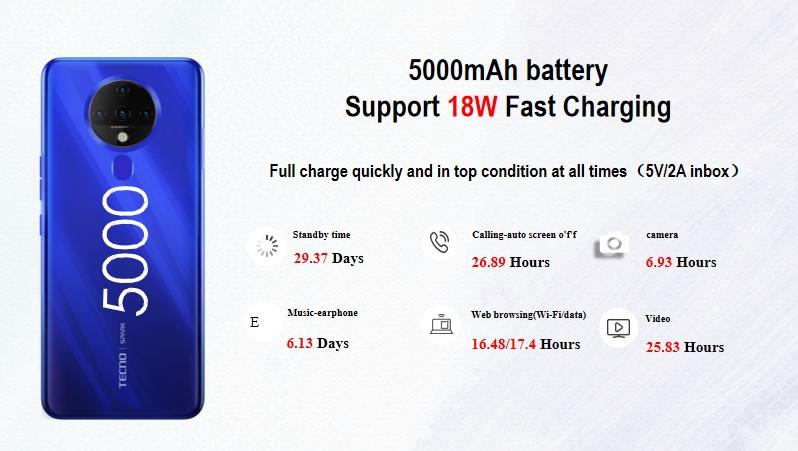Tecno Spark 6 batterie